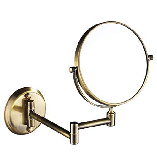 WUDHAO Kompaktspiegel Rasierspiegel Schminkspiegel Badezimmer An Der Wand Befestigter 6 Zoll / 8 Zoll Drehender Faltender Doppelseitiger Vergrößerungsverfassungsspiegel badspiegel*-*