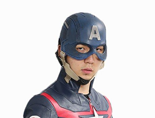 First Kostüm Cosplay Avenger Captain America - SDT Captain Kostüm Cosplay und Halloween Costume Unisex aus Hochwertigem PU Leder 5er Set Deluxe Film Zubehör für Party, Fasching und Karneval