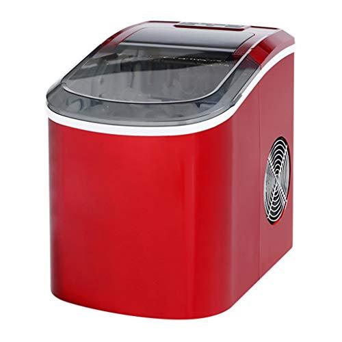 WHJ-Ice maker Eismaschine Tragbare Automatische Gewerbliche Haushalts Kleine Teestube 15kg Desktop Manuelle Runde EiswüRfel Metallic Red - Mit Maker Ice Kühlschränke