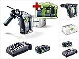 Jetzt mit GRATIS AKKU: Festool BHC 18 Li Basic Akku Bohrhammer im Systainer + 1 x BP 18 Li 3,1Ah Akkupack + TCL 6 Li-Ion Schnell Ladegerät