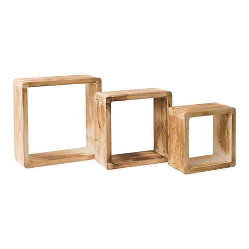 Rebecca Mobili Set 3 mensole cubo, scaffali da Appendere,...