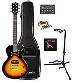 Rocktile L-100 SB Guitare Électrique Sunburst SET Gigbag + Stands + Cordes + Accordeur + Plectres