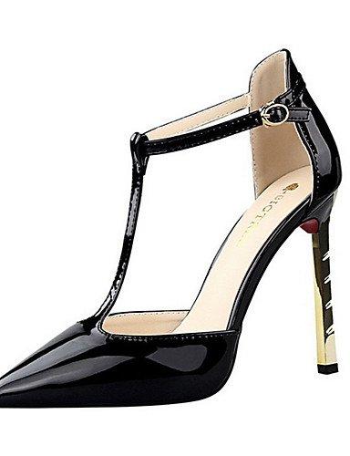 WSS 2016 Chaussures Femme-Décontracté-Noir / Violet / Blanc / Gris / Nu-Talon Aiguille-Talons-Talons-Polyuréthane white-us7.5 / eu38 / uk5.5 / cn38