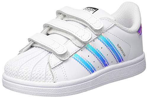 buy online daed7 2d9d7 adidas Superstar CF, Zapatillas Unisex Niños, Blanco Footwear White Metallic  Silver-Solid