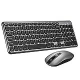 Wireless Keyboard and Mouse Set,【Scissor Key Design】Patuoxun Ergonomic 2.4G Cordless Keyboard&Mouse Combo