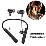 Womdee faltbares Bluetooth Kopfhörer Neckband für Sport,Bluetooth V4.2 wasserdicht Sweatproof Noise Cancelling Kopfhörer,Freisprechen für iPhone Android-Geräte mit TF Karten Einsatz Funktion