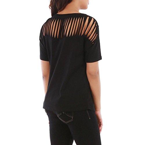 La Modeuse - T-shirt ample noir à manches courtes Noir