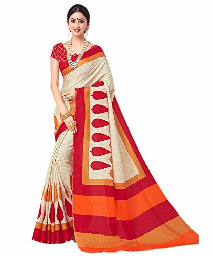 Miraan Linen Saree with Blouse Piece (SRH07_Multicoloured_One Size)