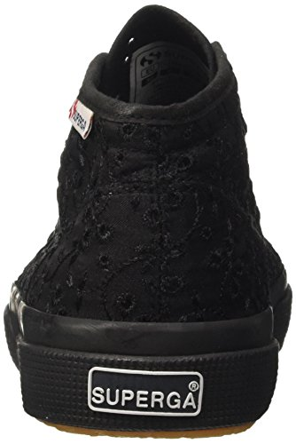 Superga 2754-Sangallosatinw, Sneaker a Collo Alto Donna Nero (Full Black)