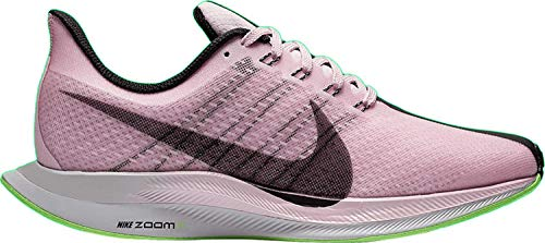 Nike W Zoom Pegasus 35 Turbo, Zapatillas de Atletismo para Mujer, (Pink Foam/Black/Lime Blast/Vast Grey 601), 40.5 EU