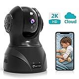 HeimVision WLAN IP Kamera Überwachungskamera 3MP 360° Schwenkbare Baby/Haustier/Zuhause Monitor, Innenraumsicherung mit Nachtsicht Gegensprechfunktion, Bewegungsmelder, Kompatibel mit Alexa