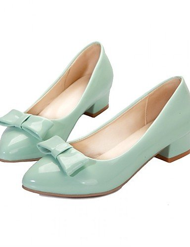 ZQ Damenschuhe - High Heels - B¨¹ro / Kleid / L?ssig - Lackleder - Niedriger Absatz - Spitzschuh - Blau / Gr¨¹n / Rosa / Beige blue-us6.5-7 / eu37 / uk4.5-5 / cn37