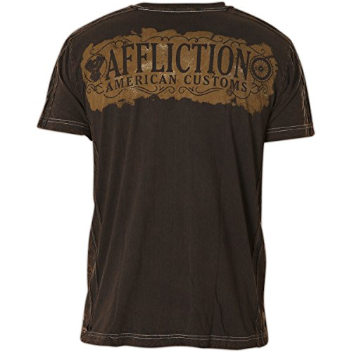 Affliction T-Shirt Gas Guzzler Braun Braun