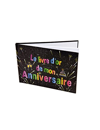 Generique - Livre dor Anniversaire Feux dartifice 21.5 x 15.5 cm