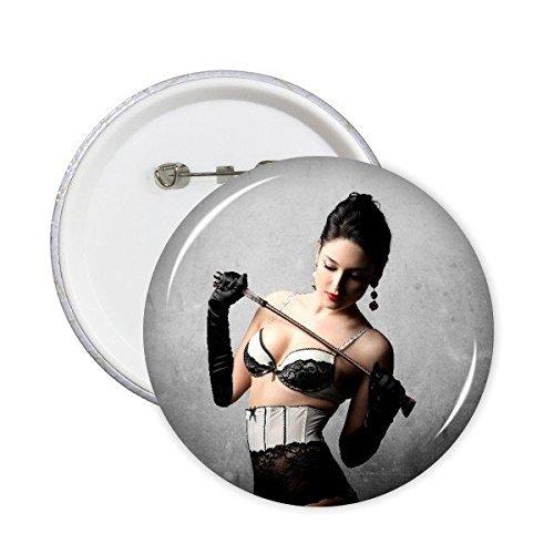 Naked Big Brust sexy Girl rund Pins Badge Button Kleidung Dekoration Geschenk 5X, sku00122247f11000-XL ()