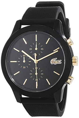 Lacoste Mens Chronograph Quartz Watch with Silicone Strap 2011012