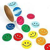 Lezed Emoji Smiley Autocollant Émoticônes Autocollants Coloré Sourire Autocollant DIY Stickers pour Enfants Parti Sac Fillers Décorations Fournitures De Noël Drôle Cadeaux (1 Rouleau 100 Pièces)...