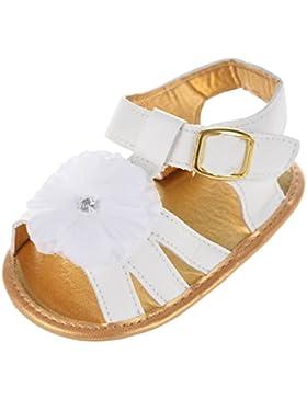 bebe zapatos de princesa - SODIAL(R) nuevos zapatos blandos de princesa de suela antideslizante de flores de verano...