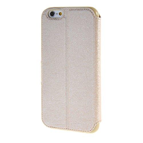 """MOONCASE Étui pour Apple iPhone 6 (4.7"""") Cuir Coque en Housse de Protection Étui à rabat Case saphir01 Doré #0201"""