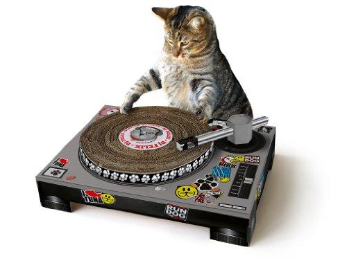 Cat Scratch SK - Rascador de cartón para gatos, diseño tocadiscos