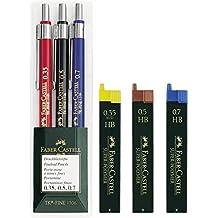 Schreibset 5-teilig 2 Druck-Bleistifte Bleistift HB 0,5 mm NEU