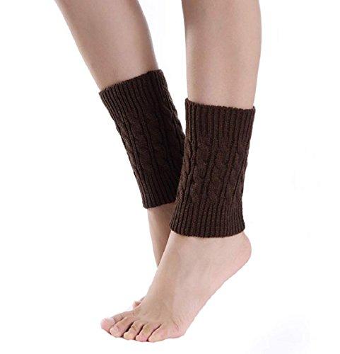 legwarmer damen Kolylong Demen kurze Stiefel Abdeckung Short Boot Cover (Kaffee) Boot Abdeckung