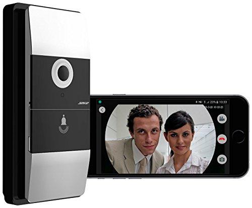Somikon WLAN Klingel: WLAN-Video-Türklingel mit App, 180° Bildwinkel, 6 Monate Akku-Laufzeit (Video Sprechanlage)
