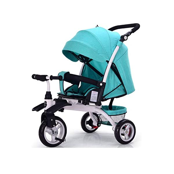 GSDZSY - Baby Tricycle Carriage Stroller 3 Wheel Bike,3 In 1 With Removable Push Handle Bar,Rubber Wheel (non-inflated), Deformable And Adjustable,0-6 Years,A GSDZSY  1