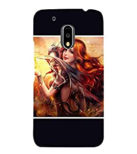 For Motorola Moto G4 :: Motorola Moto G4 Plus :: Moto G4+ beautiful girl, girl, nice girl, cute girl Designer Printed High Quality Smooth Matte Protective Mobile Pouch Back Case Cover by BUZZWORLD
