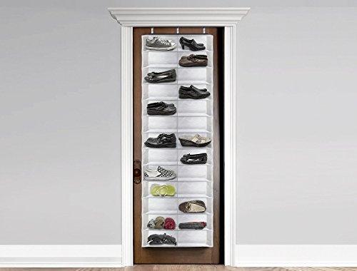 Ducomi imelda marcos scarpiera salvaspazio in tessuto da appendere alla porta 26 paia white - Portascarpe da appendere ...