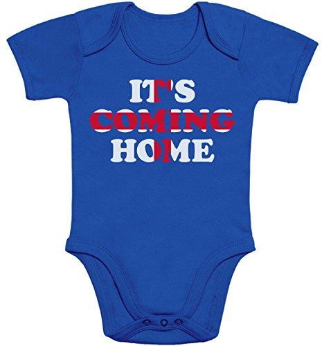 England Fussball Weltmeister 2018 Trikot Its Coming Home Baby Body Kurzarm-Body 57/68 (3-6M) Blau