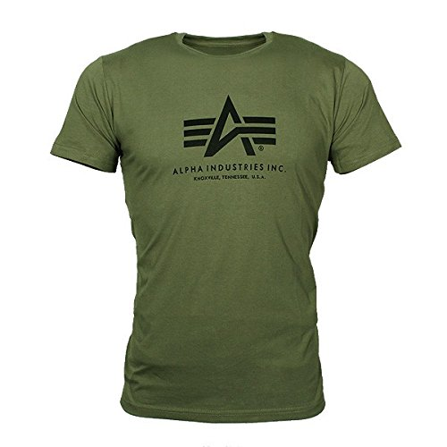 Alpha Industries Herren Oberteile/T-Shirt Basic Olive XXXXL