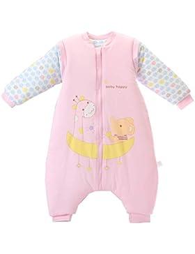 Baby Schlafsack mit Beinen Warm gefüttert Winter Langarm Winterschlafsack mit Füssen,Junge Mädchen Unisex Overall...