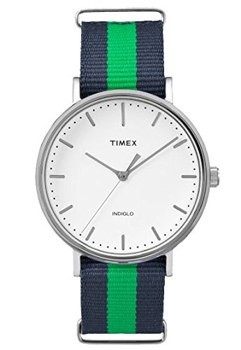 Timex Orologio Analogueico Quarzo Unisex con Cinturino in Tessuto TW2P90800