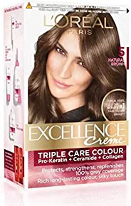 L'Oreal Excellence Creme Hair Color (Natural Brown 5) PACK OF 2 Hair Color (Natural Brow