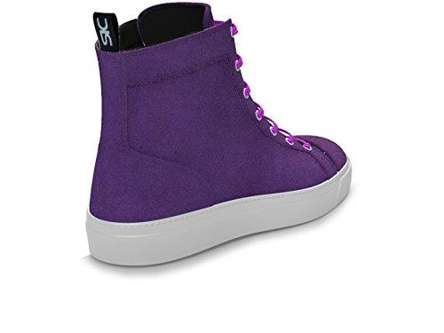 DIS - Gianmarco - Sneakers Hautes - Unisexe Violet