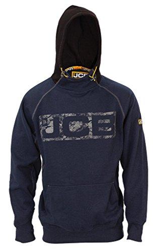 JCB Horton Hoodie NAVY/BLACK Sweatshirt Hoody Heavyweight