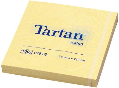 Tartan 007676 Haftnotiz Notes (76 x 76 mm, 12 Blöcke a 100 Blatt) gelb