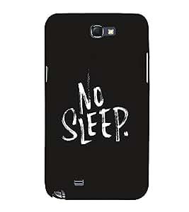 FUSON No Sleep 3D Hard Polycarbonate Designer Back Case Cover for Samsung Galaxy Note 2 :: Samsung Galaxy Note Ii N7100