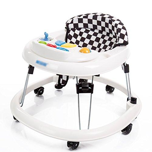 Baby-Wanderer Baby-Walker 5-18 Monate Baby-Anti-Rollover Drei-Gang-Einstellung Multifunktionaler Musik-Walker U-faltbarer Walker