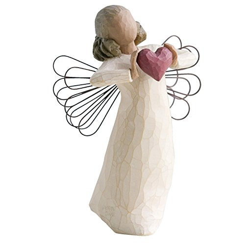 Willow Tree 26182 Figur Engel der Liebe, Natur, 3,8 x 3,8 x 14 cm -