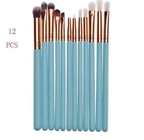 JIANGJUNA premium make up pinsel Kunststoff Metallgriff Lippenbürste 24 blau