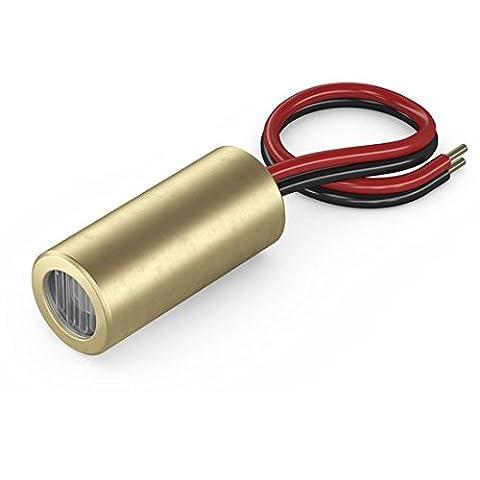 Laser linéaire, rouge, 650nm, 90°, 5mW, Ø9x20mm, Classe laser 1, Foyer fixé (1000mm), Longueur de câble 100mm -