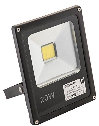 ecoe Nergy EE 09-202Faro Fanale/in alluminio, 20W, colore: nero, 4x 14x 18cm