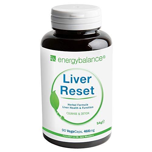 Liver Reset Natural | Vegan | Detox Mix | 466mg | Leber Komplex | GVO-frei | Ohne Zusatzstoffe | 90 VegeCaps