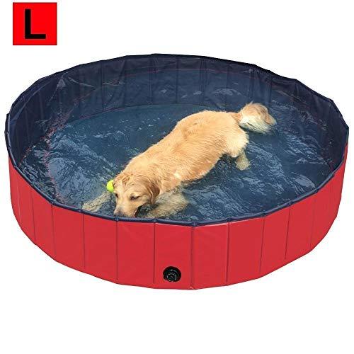REAYOU Piscina de Baño Ducha Plegable para Mascota Bañera Portátil para Perro/Gato Animales (160*30cm)