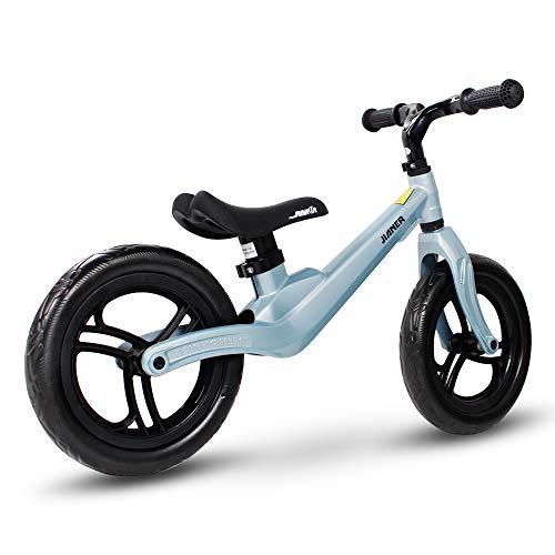 SENQI Bicicleta de Equilibrio para niños de 12 Pulgadas, sin Pedal, Bicicleta de 2 a 4 años de Edad, U-HBC003-BL, Azul Claro, 30,5 cm