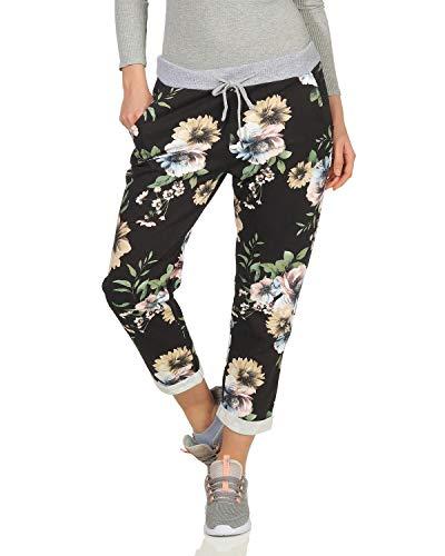 Harem Damen Jeans (ZARMEXX Damen Joggpants Jogginghose Leggings Hose Fitnesshose Freizeit Streetwear All Over Print Baumwolle)
