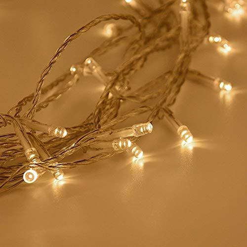 (Lichterkette Batterie 10m 80er LED Lichterkette Batteriebetrieben 2 Programm Warmweiß für Innen und Außen Deko wie Party, Garten, Weihnachten, Halloween, Hochzeit)
