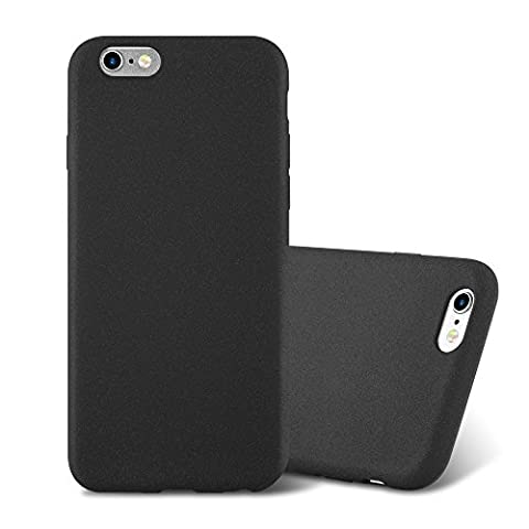 Cadorabo - Ultra Slim TPU Frosted Mate Coque Gel (silicone) pour Apple iPhone 6 / 6S - Housse Case Cover Bumper en FROST-NOIR